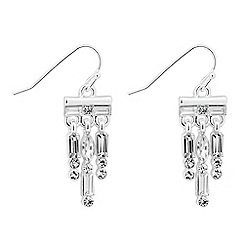 Alan Hannah Devoted - Designer baguette stone shower drop earring