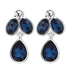 Jon Richard - Blue crystal flower drop earring