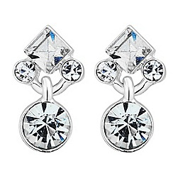 Jon Richard - Mixed crystal stone drop earring