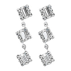 Jon Richard - Diamante crystal baguette drop earring