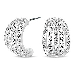 Jon Richard - Crystal embellished curve drop earring