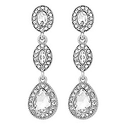 Jon Richard - Crystal multi shape clara drop earring
