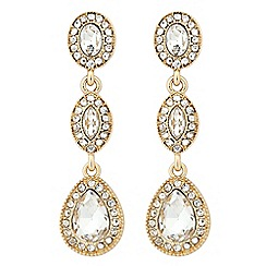 Jon Richard - Clara triple crystal drop earring