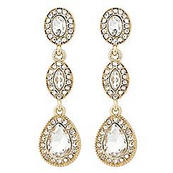 Jon Richard - Clara triple crystal drop earring