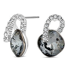Jon Richard - Silver night crystal square earring MADE WITH SWAROVSKI ELEMENTS