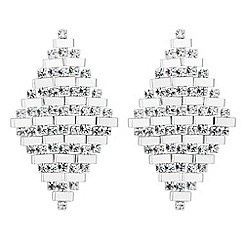 Jon Richard - Diamante and polished bar diamond effect earring