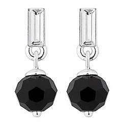 Jon Richard - Baguette stone and jet bead drop earring
