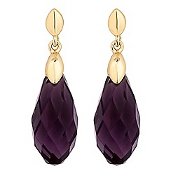 Jon Richard - Purple facet bead drop earring