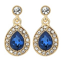 Alan Hannah Devoted - Designer Clara blue crystal peardrop earring