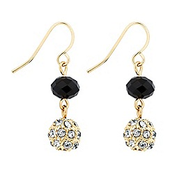 Jon Richard - Jet bead and crystal ball drop earring