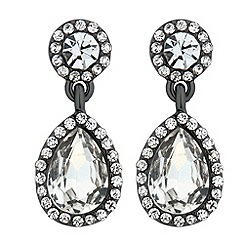 Jon Richard - Clara hematite teardrop earring