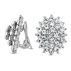 Jon Richard - Crystal starburst clip on earring