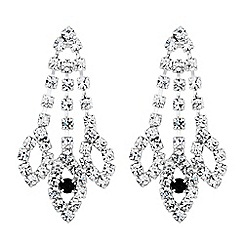 Jon Richard - Jet and diamante crystal navette drop earring
