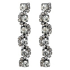 Jon Richard - Diamante crystal hematite twist drop earring