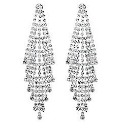 Jon Richard - Statement diamante crystal drop earring
