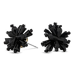 Jon Richard - Jet facet bead flower earring