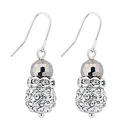 Jon Richard - Crystal embellished disco ball earring
