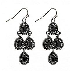 Jon Richard - Jet teardrop chandelier earring