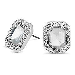 Jon Richard - Square crystal surround stud earring
