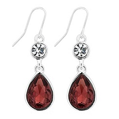 Jon Richard - Pink crystal teardrop earring