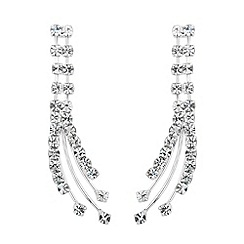 Jon Richard - Diamante crystal curved spray earring