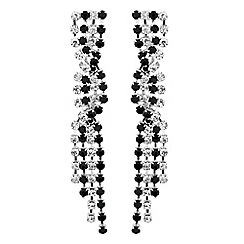 Jon Richard - Jet and diamante crystal plait drop earring