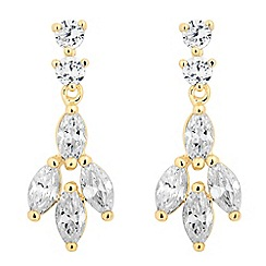 Jon Richard - Cubic zirconia leaf drop earring