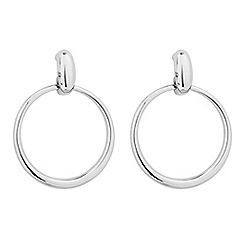 Jon Richard - Polished silver drop hoop earring