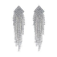 Jon Richard - Diamante crystal chain tassel drop earring