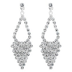 Jon Richard - Diamante crystal teardrop earring