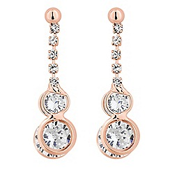 Jon Richard - Cubic zirconia double ring drop earring