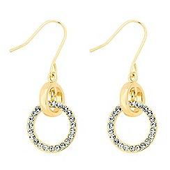Jon Richard - Polished and crystal drop hoop earring