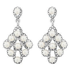 Jon Richard - Pearl and crystal chandelier earring
