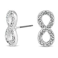 Jon Richard - Crystal embellished infinity stud earring