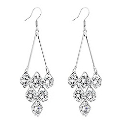 Jon Richard - Cubic zirconia encased chandelier earring