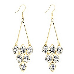 Jon Richard - Cubic zirconia encased gold chandelier earring