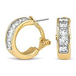 Jon Richard - Cubic zirconia encased hoop earring
