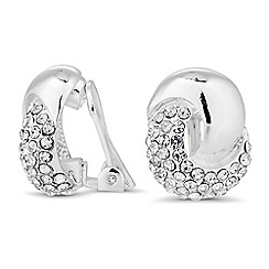 Jon Richard - Polished and crystal twist clip on earring