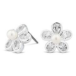 Jon Richard - Cubic zirconia daisy stud earring