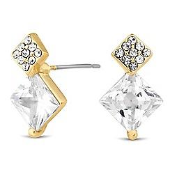 Jon Richard - Double square crystal stud earring