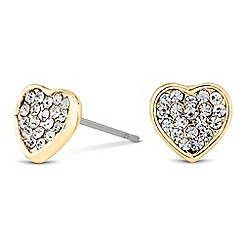 Jon Richard - Mini crystal gold heart stud earring MADE WITH SWAROVSKI CRYSTALS