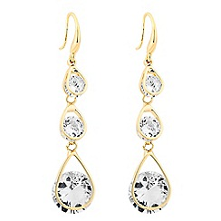 Jon Richard - Graduated cubic zirconia teardrop earring