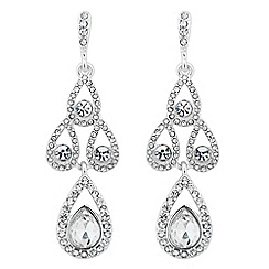 Jon Richard - Crystal peardrop chandelier earring