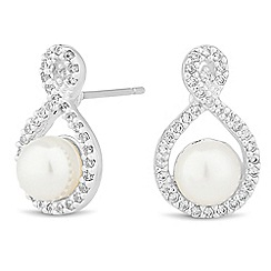 Jon Richard - Vintage rose pearl stud earrings