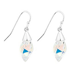Jon Richard - lavender twisted drop earrings MADE WITH SWAROVSKI CRYSTAL