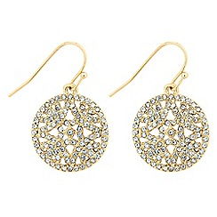 Jon Richard - Crystal embellished round filigree drop earring