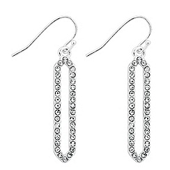Jon Richard - Crystal embellished angular drop earring
