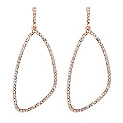 Jon Richard - Crystal embellished geometric drop earring