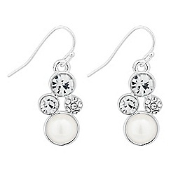 Alan Hannah Devoted - Designer pearl and crystal bubble drop earring