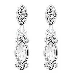 Alan Hannah Devoted - Designer crystal encased navette drop earring